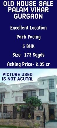 Old House Sale Palam Vihar Gurgaon